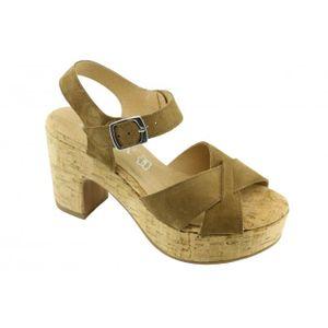 SANDALE - NU-PIEDS Jenifer - Sandale pour Femme talon compensé chauss