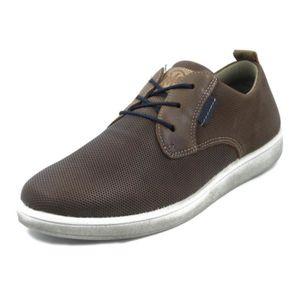 DERBY IMAC, Chaussure derby pour homme, cuir imprimé mar