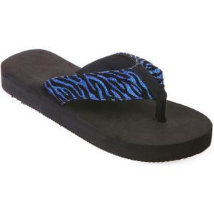TONG Tongs bleues à motif tigré-36