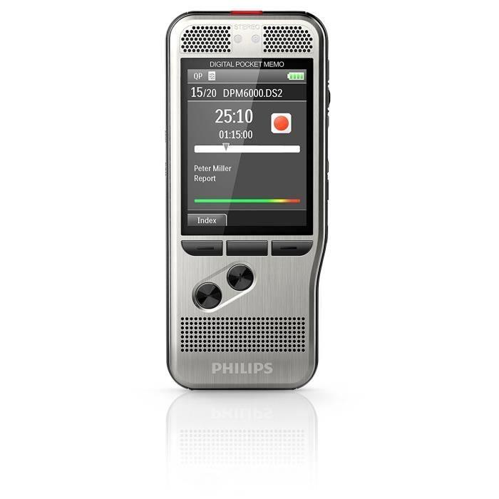 PHILIPS DPM6000 Dictaphone numérique Pocket Memo - Sans mémoire interne - USB