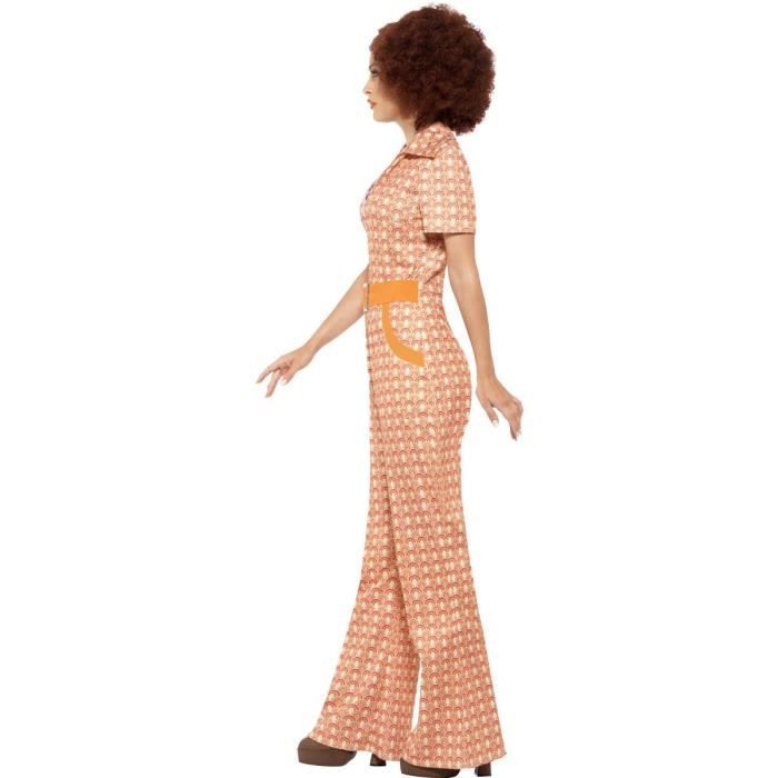 de Smiffy adultes Femmes Authentique Chic Costume de 70, Jumpsuit, 70  Disco, Serious Fun, Taille  L, 43188 de87f834dd2
