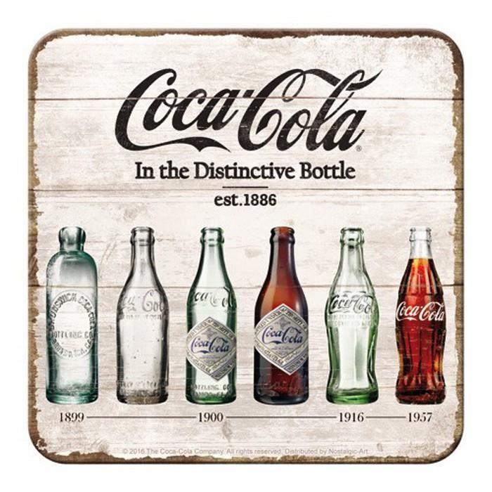 sous verre avec la petite bouteille coca cola au fil du temps achat vente sous verre. Black Bedroom Furniture Sets. Home Design Ideas