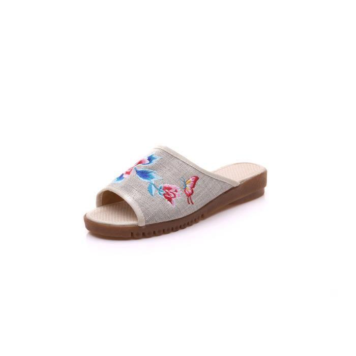 (Made By Cotton) Skidproof Le Style Simple De Pantoufles(Bleu Marine) ISJkZ4