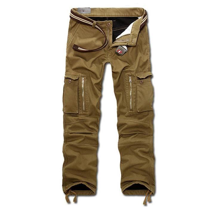 pantalon cargo hommes multi poches de plus velours pais. Black Bedroom Furniture Sets. Home Design Ideas