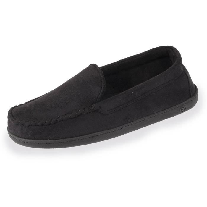 Chaussons mocassins homme coutures