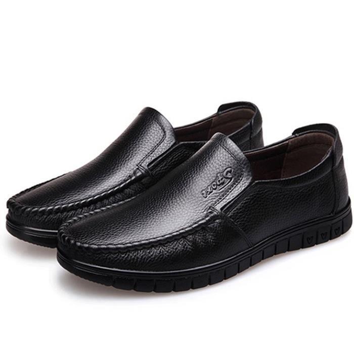 Chaussures Hommes Respirant Chaussure Veritable Ete Souple Male  Decontractees Printemps Plat Cuir Flaneurs 2018 De Mocassin 7qgwO07r 389dfd452fc