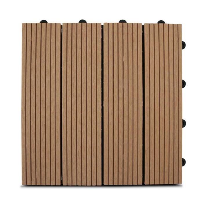 dalle de terrasse clipsable en bois composite achat vente revetement en planche dalle de. Black Bedroom Furniture Sets. Home Design Ideas