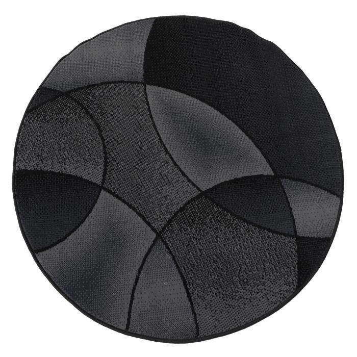 tapis rond jute noir. Black Bedroom Furniture Sets. Home Design Ideas