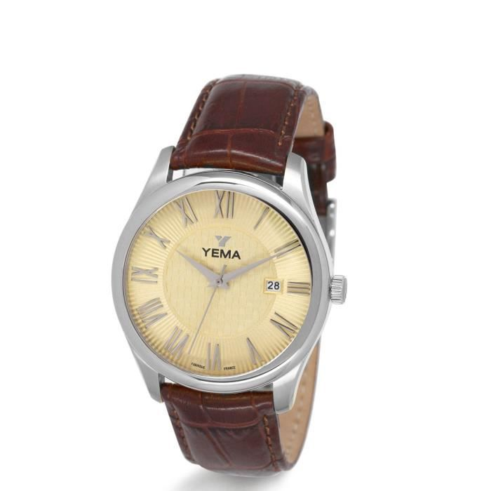 Yema Champagne Montre Ymhf1213Achat Homme Soleillé bfy76Ygv