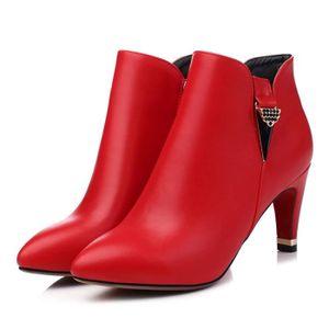 hauts et coton avec zipper chaussures Automne hiver plus bottes talons des femmes épaisse chaudes à bottes velours pour occas de UIgdqp
