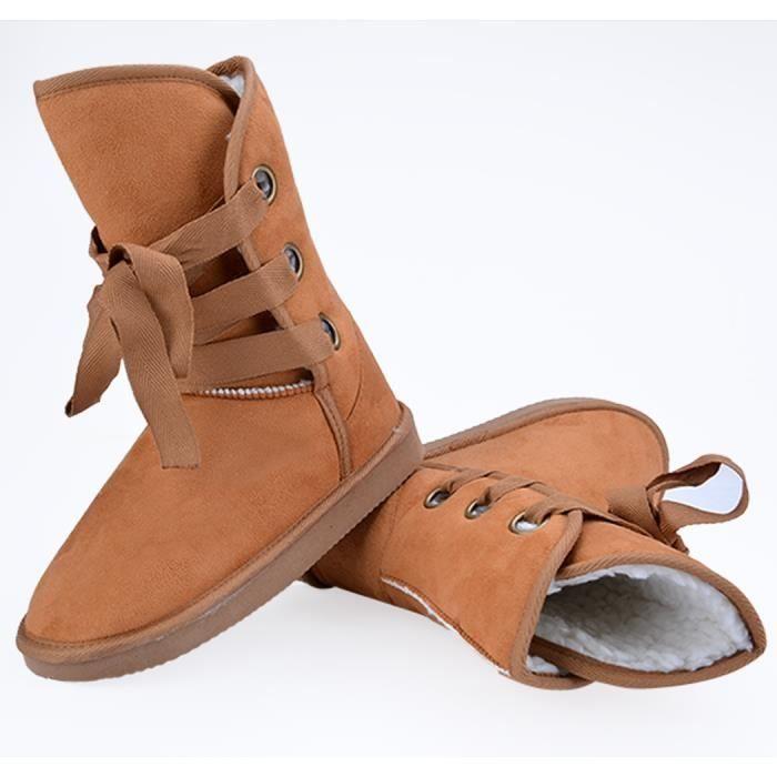 Bottine Chaussure de neige 5 couleurs Chaussure en fausse fourrure de neige 3bxmulIj