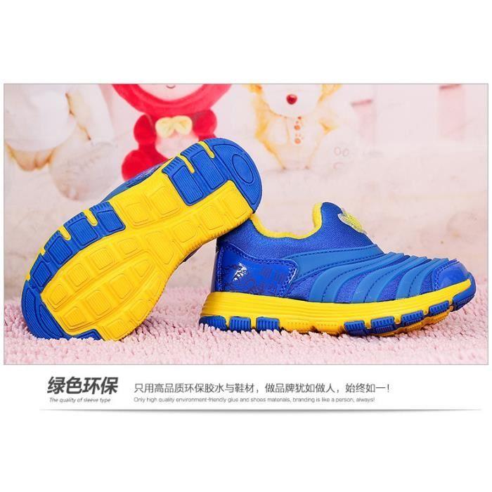 Chaussons de chenilles pour enfants en hiver Chaussures de sport souples
