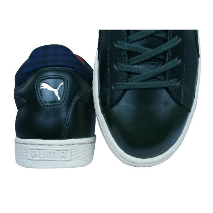 Puma Stepper Luxe Leather Baskets Hommes Noir 9.5