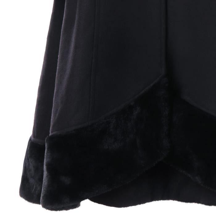Outwear Long Épaisse noir Slim Hiver Veste Femmes Caban Manteau Pardessus Parka Chaud CwqavZnF