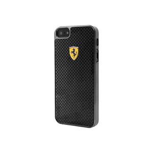 Ferrari Coque en carbone réel pour iPhone 6 Plus Noir