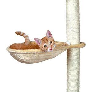 TRIXIE Hamac - Nid XL pour griffoir pour chat beige peluche