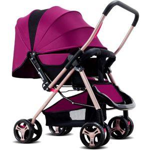 POUSSETTE  Poussette bébé pliable Pram avec quatre roues Viol
