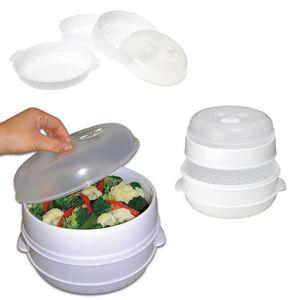 CUIT VAPEUR Kabalo 2 niveau micro-ondes légumes vapeur cuiseur
