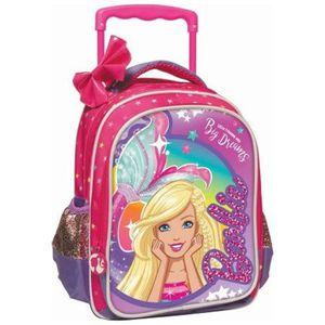 CARTABLE Sac à roulettes maternelle Barbie Dreams 31 CM - C