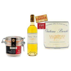 FOIE GRAS Foie Gras de Canard Entier et Château Broustet Bar