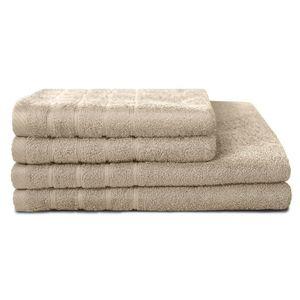 SERVIETTES DE BAIN LOVELY HOME Lot de 2 serviettes + 2 draps de douch