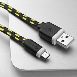 CÂBLE TÉLÉPHONE Cable Tressé 1m pour ASUS ZenFone 2 Smartphone And