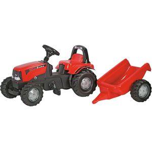 TRACTEUR - CHANTIER Tracteur à pédales CASE IH CVX avec remorque Séri…