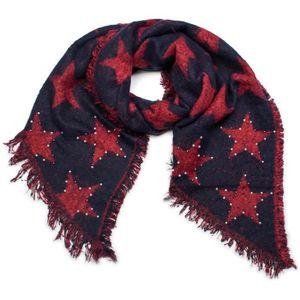 styleBREAKER Châle XXL tissé douillet pour femme avec des étoiles, des  perles et des franges, écharpe d hiver, étole, foulard 6e69dcf0597