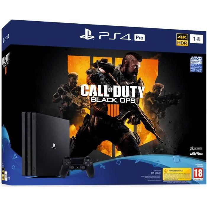 Pack PS4 Pro 1 To Noire + Call of Duty Black Ops 4