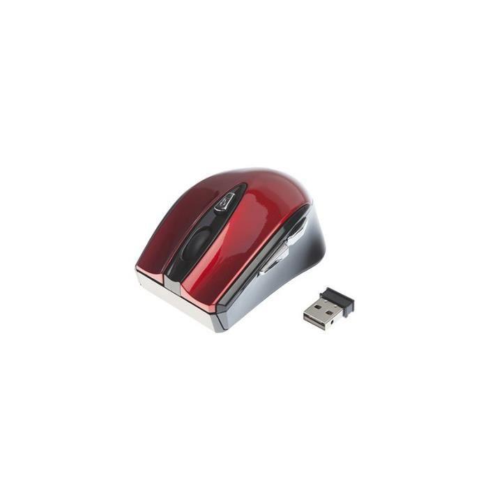 APM Souris Sans fil - Optique - Rouge Shiny