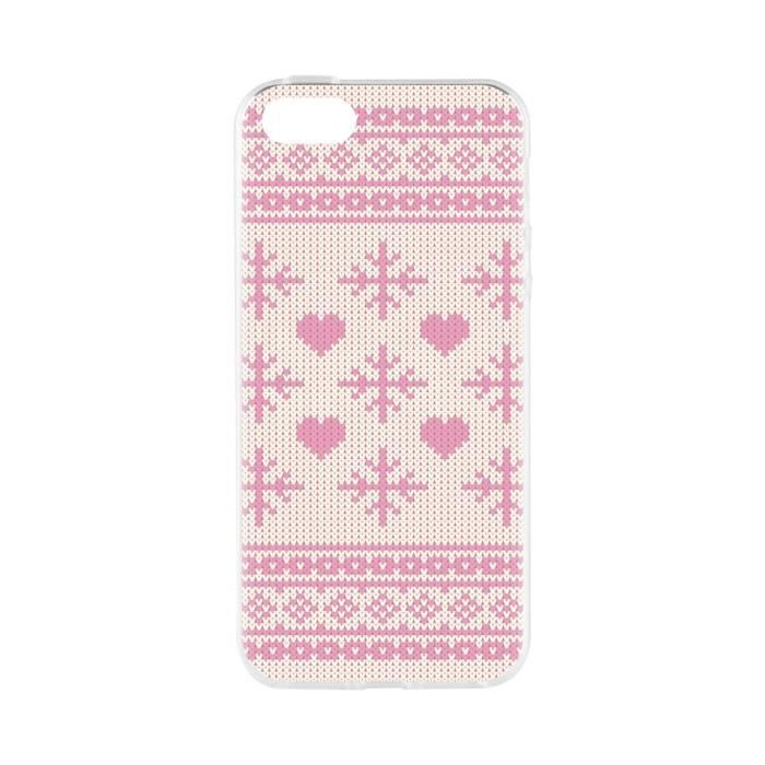 FLAVR Coque Case Ugly Xmas Sweater - Iphone 5 / 5s / SE - Rose