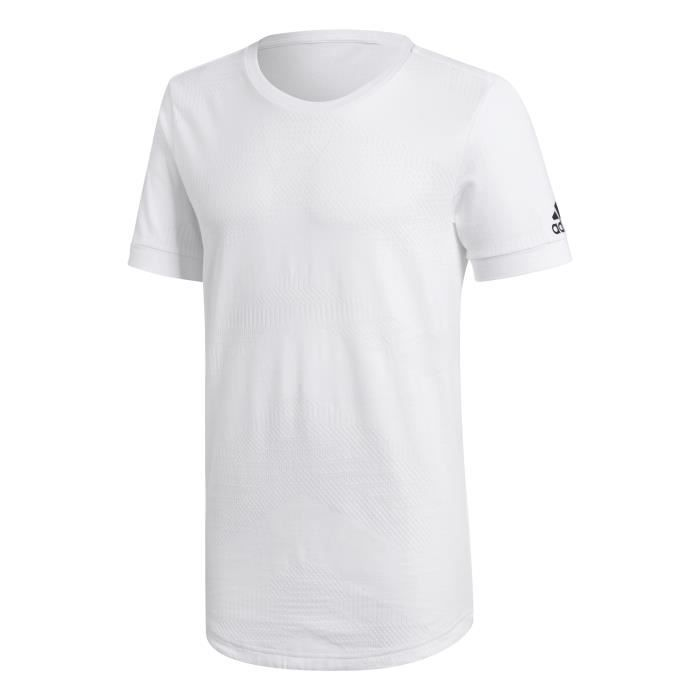 ADIDAS T-shirt Id Chevron - Homme - Blanc