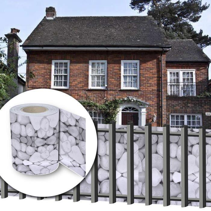 HG® 35mx19cm Bande d\'écran PVC Roll Multifonctions divers incl. montage  clips pour la clôture de jardin ou balcon