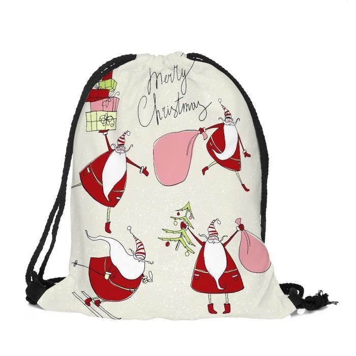 De Joyeux Bag Poche À 5874lmy20182624 Noël Candy Stockage Satchel Rucksack Frandmuke Sac Ensemble Cordonnet fwZrRawYxq
