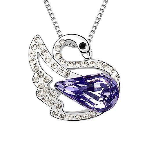 Cristaux Swarovski et Preciosa Strass Collier diamant pendentif de femmes. Tous les jours - Tenues de soirée Fashio MP1J7