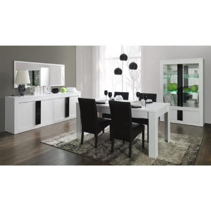 Buffet bahut enfilade 4 portes alpens couleur blanc for Enfilade chez but
