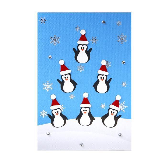 carte de voeux carte noel nouvel an pingouins achat vente carte postale carte de voeux. Black Bedroom Furniture Sets. Home Design Ideas