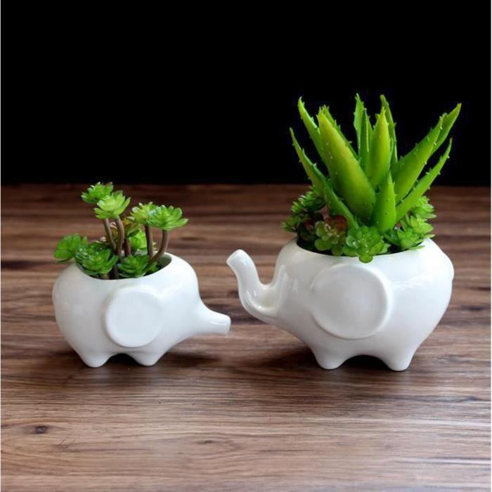 pot de fleurs decoration pot de fleurs exterieur pot de fleur interieur pour plantes grasses alos forme de lphant lot de 2