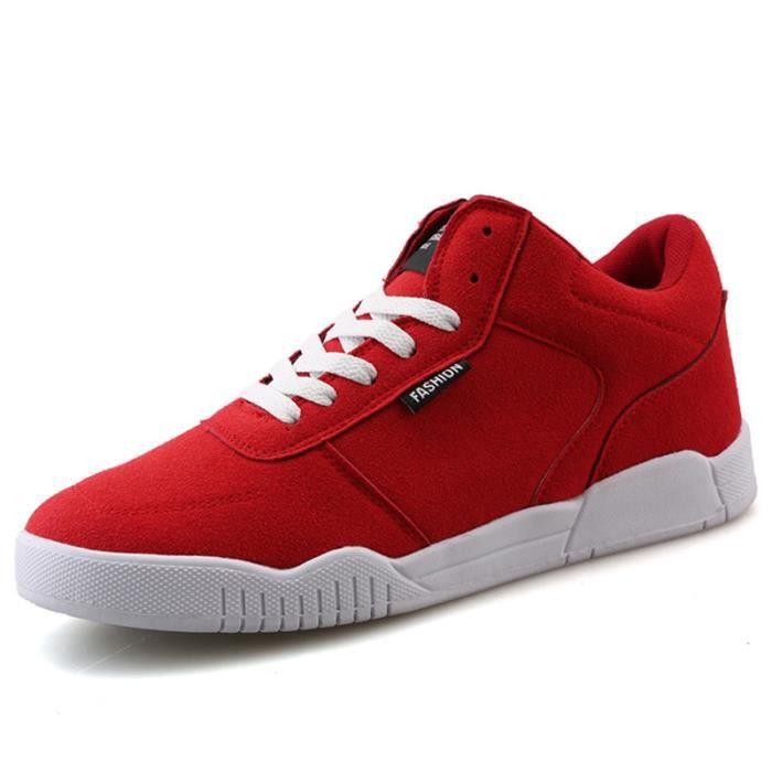 Chaussures De Sport Pour Femme en daim Textile De Course Populaire LLT-XZ127Rouge42