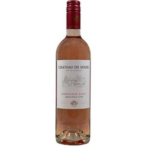 VIN ROUGE Vin Rosé Château de Sours, Bordeaux Rosé, 2016 - V