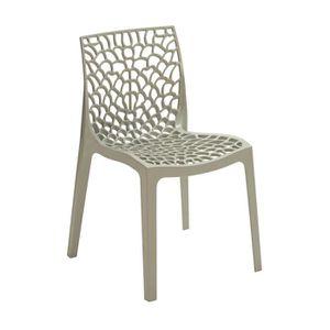fauteuil de jardin plastique blanc achat vente pas cher. Black Bedroom Furniture Sets. Home Design Ideas