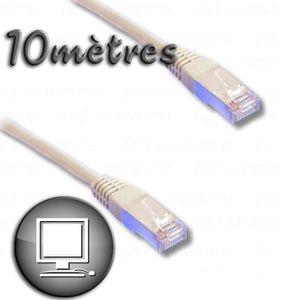 CÂBLE RÉSEAU  Câble RJ45 cat.6 blindé FTP 10m