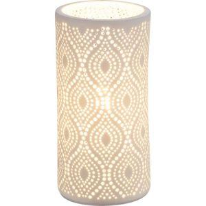 LAMPE A POSER Lampe à poser en porcelaine - 20 x Ø 10 cm - Blanc