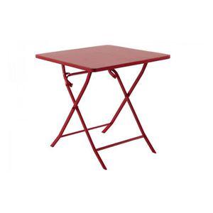 table de jardin rouge achat vente pas cher soldes d s le 27 juin cdiscount. Black Bedroom Furniture Sets. Home Design Ideas