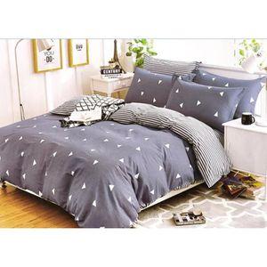 parure de lit geometrique achat vente pas cher. Black Bedroom Furniture Sets. Home Design Ideas