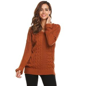 9ec4e9ce684 PULL Pull chaud Femmes Casual O col Manches longues Sol