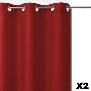 RIDEAU Paris Prix - Rideaux Occultants x2 135x240cm Rouge