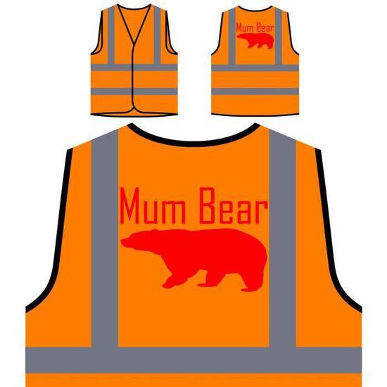 In Family À mum Person Personnalisée Pink Funny Veste Haute Protection Novelty De Orange Bear Visibilité ITxqPzw