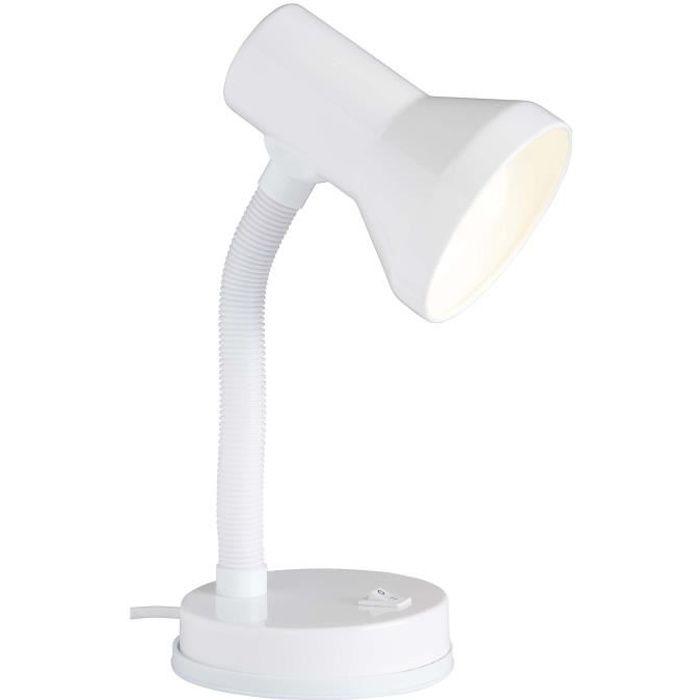 BRILLIANT Lampe de bureau flexible Junior hauteur 30 cm Ø13 cm E27 40W blanc