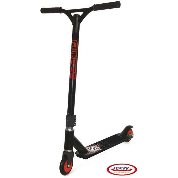 FUNBEE Trottinette freestyle 2 roues + casque bol + 3 protections à coque